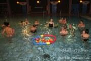 Babys schwimmen mit den Großen