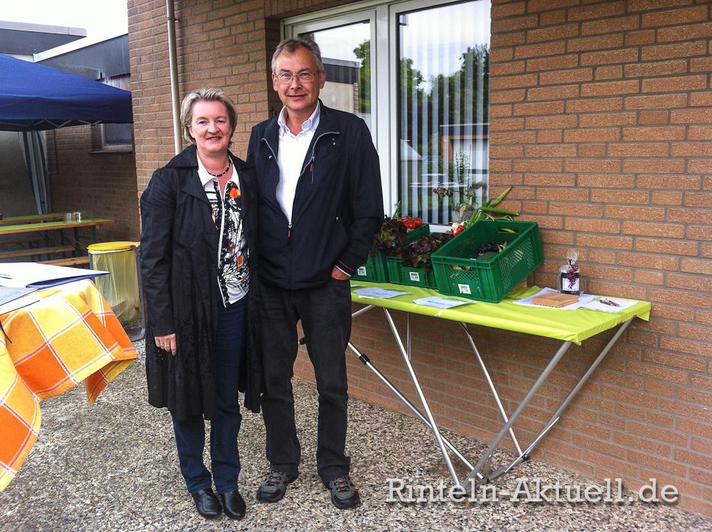Freuten sich über das Interesse an der Biokiste: Sabine und Martin Sondermann