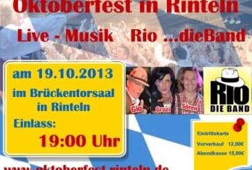 Rinteln feiert das Oktoberfest im Brückentorsaal am 19.10.13