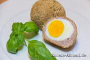Das gekochte Ei auf schottische Art aufgepeppt
