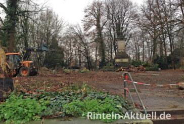 Die Vorbereitungen laufen: Zugang zum Blumenwall wird umgestaltet