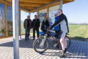 Weserradweg: Neuer Infopunkt für Radler am Doktorsee