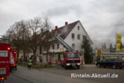Brand in Bahnhofstraße: Obergeschoss in Flammen