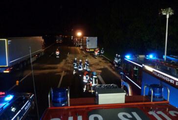 Turbolader sorgt für nächtlichen Feuerwehreinsatz auf der A2