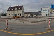 Einseitig stadtauswärts: Die Baustelle ist bereit für den Alltagstest