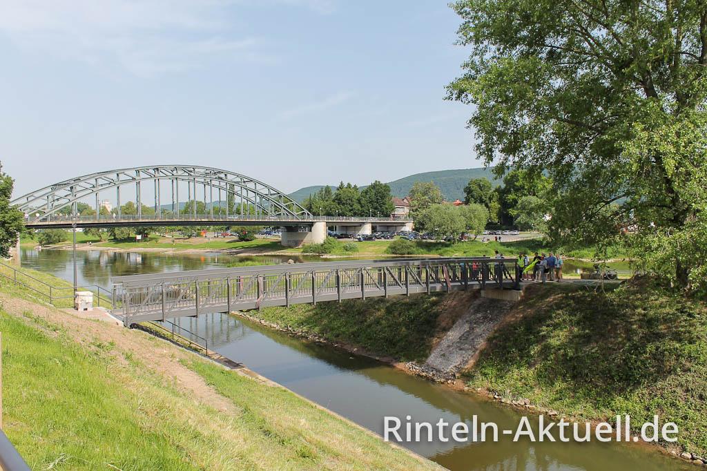 Fertig: Rinteln ist um eine Brücke reicher.