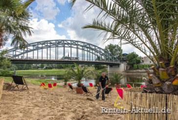 Sturzregen, Sand und Sombreros: Rinteln bekommt eine Strandbar