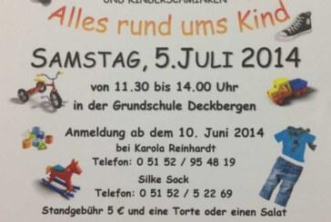 Großer Sommerbasar in der Grundschule Deckbergen am 05.07.2014