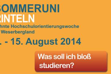 10. Sommeruniversität Rinteln – Für Kurzentschlossene stehen noch Plätze zur Verfügung