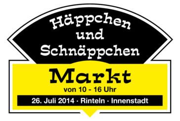 """16. """"Häppchen-Schnäppchen-Markt"""" am 26.07.2014 von 10 bis 16 Uhr in der Rintelner Innenstadt"""