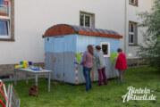 Bauwagen wird bunt: KiTa Klabauternest verleiht dem Projekt Farbe