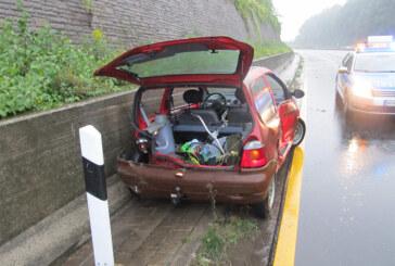 Bei Regen zu schnell: Drei Verkehrsunfälle auf der A2 bei Bad Eilsen am 7.9.2014