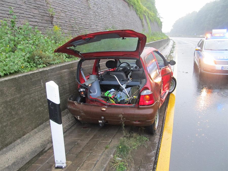 Am 7.9. kam es aufgrund unangepasster Geschwindigkeit zu drei Unfällen auf der A2 bei Bad Eilsen. (Foto: Polizei Bielefeld)
