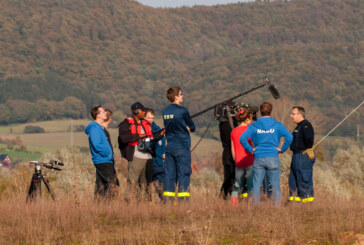 Hohenroder Kiesteiche in Bewegung: Tiere weg, NDR Filmteam bei Dreharbeiten