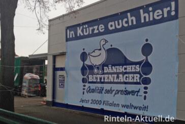 Der Termin steht: Dänisches Bettenlager ab 1.12.2014 in Rinteln