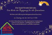Das kleine Mehrgenerationenhäuschen öffnet am 29.11.2014: Start frei für eine Woche der Begegnung