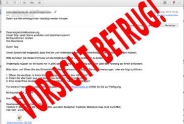 Vorsicht vor gefälschten E-Mails: Betrüger wollen Bankdaten ergaunern