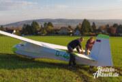Flieger grüßte den Acker: Segelflugzeug mit Außenlandung in Rinteln