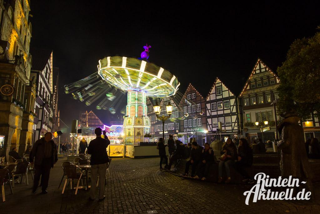 03 rintelnaktuell messe herbst 2014 kettenkarussell riesenrad innenstadt rummel marktplatz