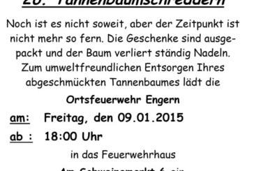 Reise durch den Häcksler: 26. Tannenbaumschreddern in Engern