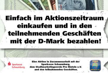 D-Mark Einkaufsaktion in Rinteln