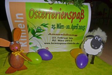 Osterferienspaß der Stadtjugendpflege Rinteln