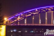 Blaues Band der Weser unterbrochen: LED-Brückenbeleuchtung an zwei Stellen defekt