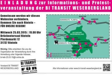 Thema Güterbahnverkehr: Informationsveranstaltung am 25.03.2015 im Brückentorsaal Rinteln