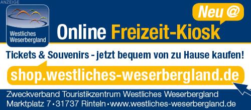 Der Online Ticket-Shop des Touristikzentrums Westliches Weserbergland