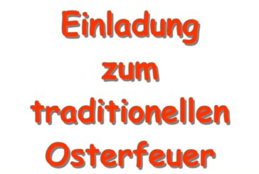 Traditionelles Osterfeuer in Engern