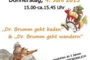 """""""Dr. Brumm geht wandern und baden"""": Bilderbuchkino in der Stadtbücherei Rinteln"""