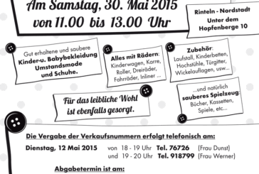 Sommer-Basar beim Comenius Kindergarten am 30.05.2015