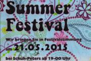 Little Summer Festival am 21.05.2015 bei Schuh Peters