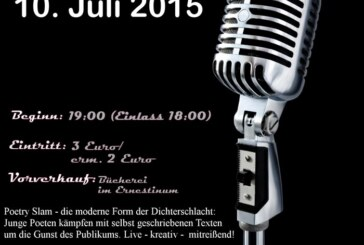 4. Poetry Slam im Gymnasium Ernestinum am 10.07.2015