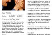 Tanz-Reise: Netzwerk Demenz und Tanzschule Steinbergen starten am 08.06.2015