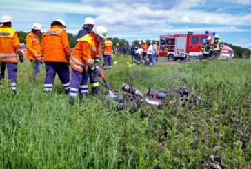Schwerer Motorradunfall bei Goldbeck: Mann (52) schwer verletzt