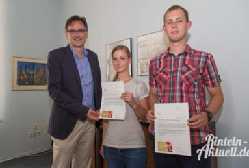 Hobby und Ehrenamt: Zwei junge Feuerwehrleute ausgezeichnet
