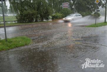 """Rinteln erfrischt: Nach Hoch """"Annelie"""" kam die Abkühlung mit Blitz, Donner und Starkregen"""
