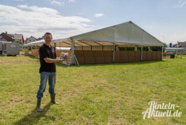 Im Dorf entsteht eine Stadt: Aufbau des 13. Stadtzeltlagers der Rintelner Jugendfeuerwehren