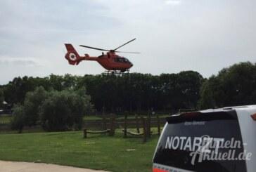 Badeunfall in Freibad: Junge (14) mit Rettungshubschrauber ins Klinikum Minden geflogen