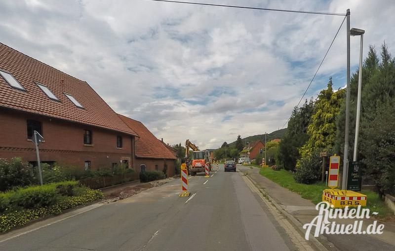 01 rintelnaktuell l441 baustelle ortsdurchfahrt todenmann strassenbau