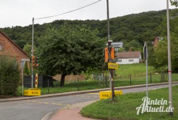 Ortsdurchfahrt Todenmann: Baustellen-Ampel steht, Bagger kommen nächste Woche