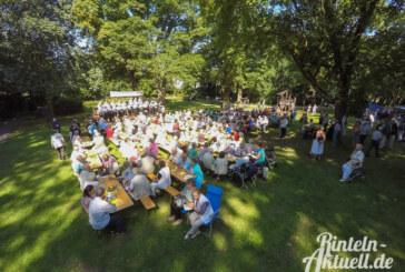 18. singender, klingender Rosengarten beim Blumenwallfest der Vereinigten Chöre Rinteln