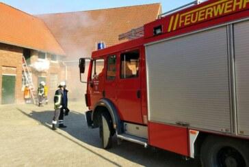 """Feuerwehren Steinbergen, Engern, Kohlenstädt und Ahe bei """"SEKA""""-Übung im Einsatz"""