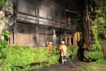Feuerwehreinsatz bei Haus Waldesruh