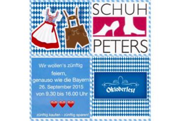 """""""Zünftig feiern, wie in Bayern"""": Oktoberfest-Stimmung bei Schuh-Peters"""