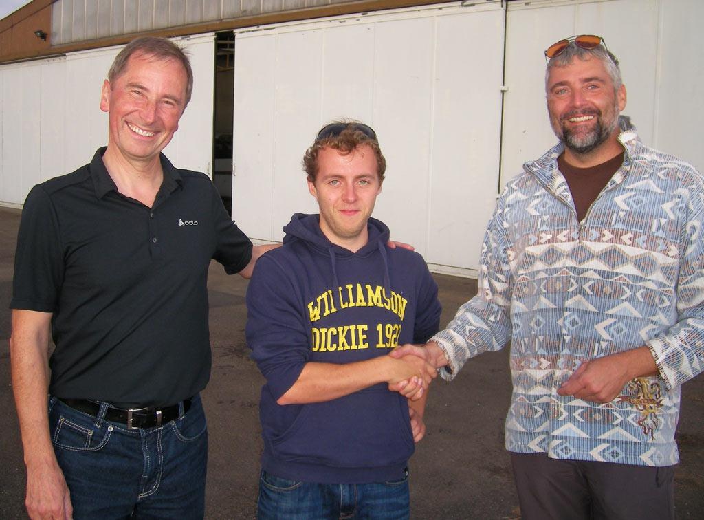 Norbert Siebert, Adrian Glauner und Karl Heinz Pfeiffer (Foto: privat)