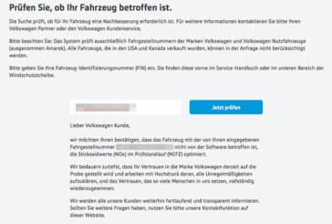 VW-Dieselskandal: Rückrufaktion für Autos mit EA 189 Motor