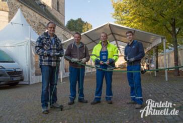 Stadtwerke Rinteln bringen Kirchplatz zum Leuchten