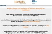 Onlinebefragung zu Homepage der Stadt Rinteln